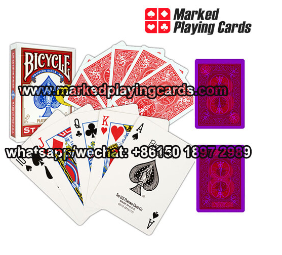 infrared invisible ink marked playing cards